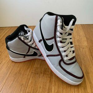 Nike Mens Vandal High Sneakers Gray Red 10.5